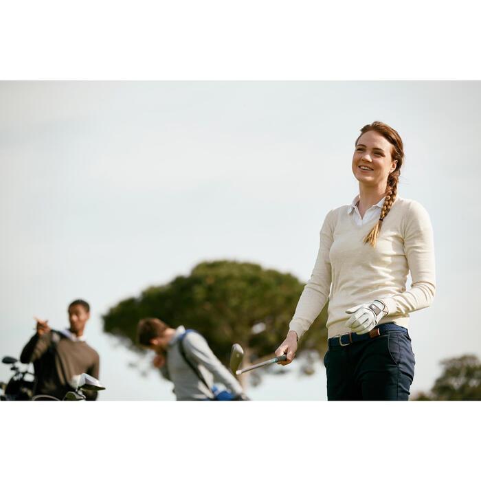 Golftrui voor dames zacht weer grijs