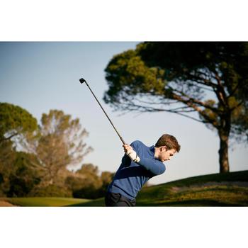 Golf Pullover Zip warm Herren dunkelgrau