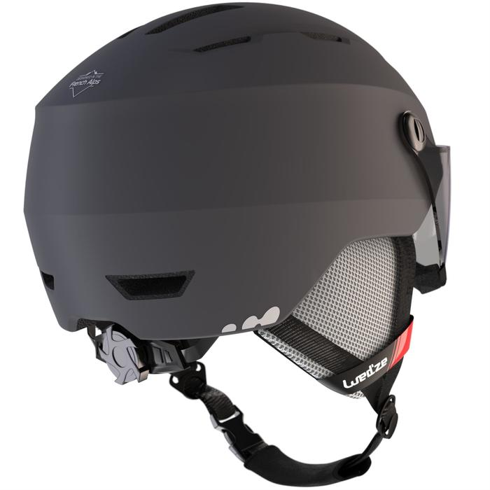 ADULTS' D-SKI HELMET WITH VISOR H350 - GREY