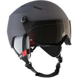 ADULTS' D-SKI HELMET WITH VISOR H350 - GREY