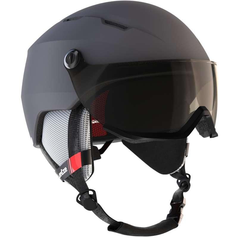 SKI AND SNOWBOARD HELMETS Snowboarding - Ad D-Ski Helmet H350 - Grey WEDZE - Snowboarding