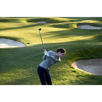 Golfpolo 500 met lange mouwen voor dames paars