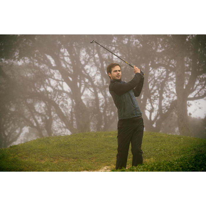 Heren regenjasje voor golf grijs