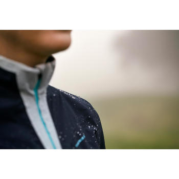 Women's Golf Rain Jacket - Navy and Grey