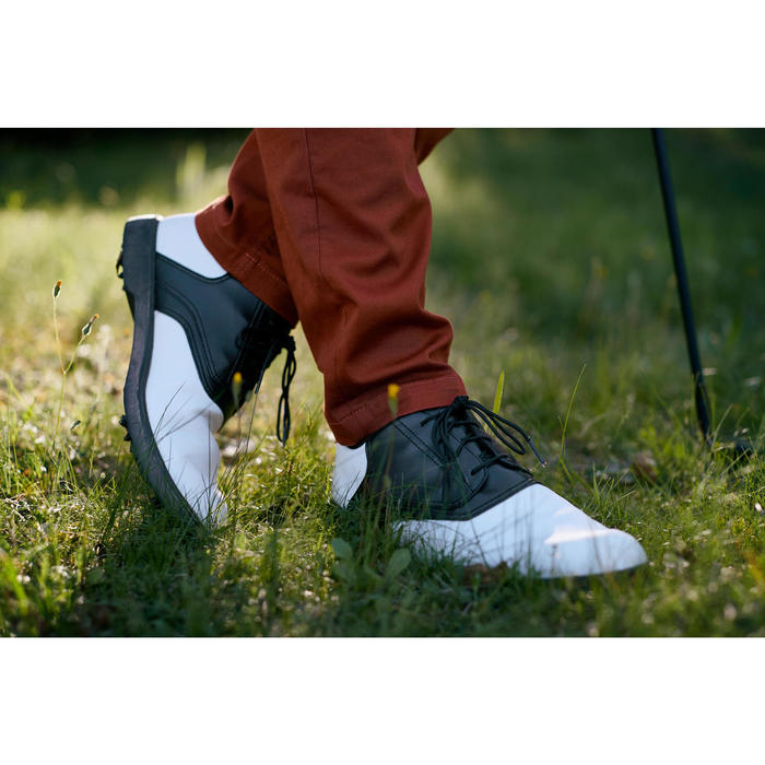 CHAUSSURES GOLF HOMME SPIKE 500 BLANCHES / NOIRES