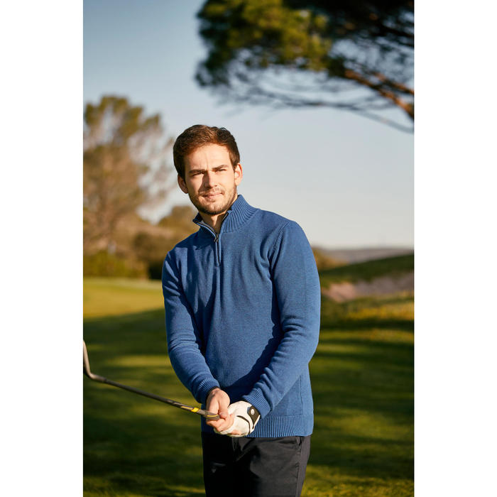 MEN'S NAVY COLD-WEATHER GOLFING PULLOVER - 1202366