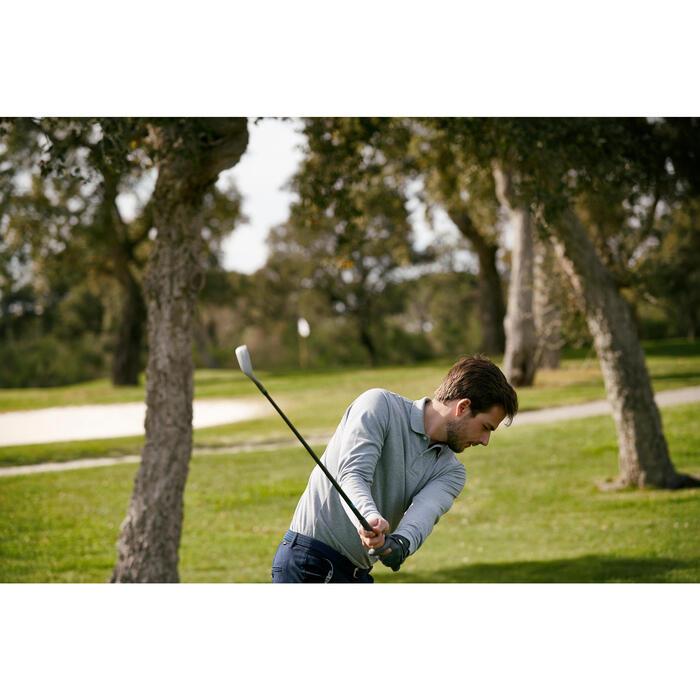 Golf Poloshirt Langarm Herren bordeaux