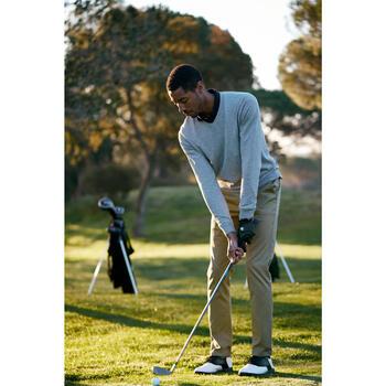 Golf Pullover V-Ausschnitt Herren grau meliert