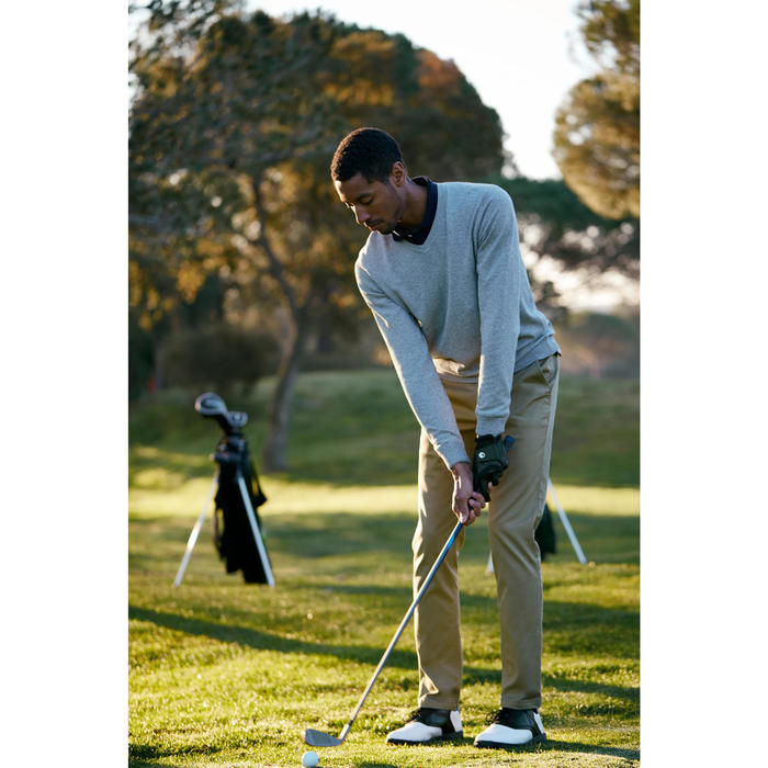 PULL GOLF HOMME 500 GRIS chiné