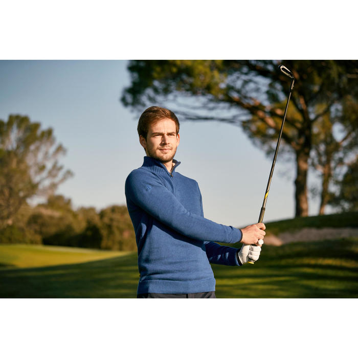 MEN'S NAVY COLD-WEATHER GOLFING PULLOVER - 1202382