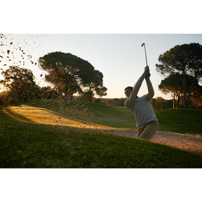 Golf Pullover V-Ausschnitt Herren schwarz