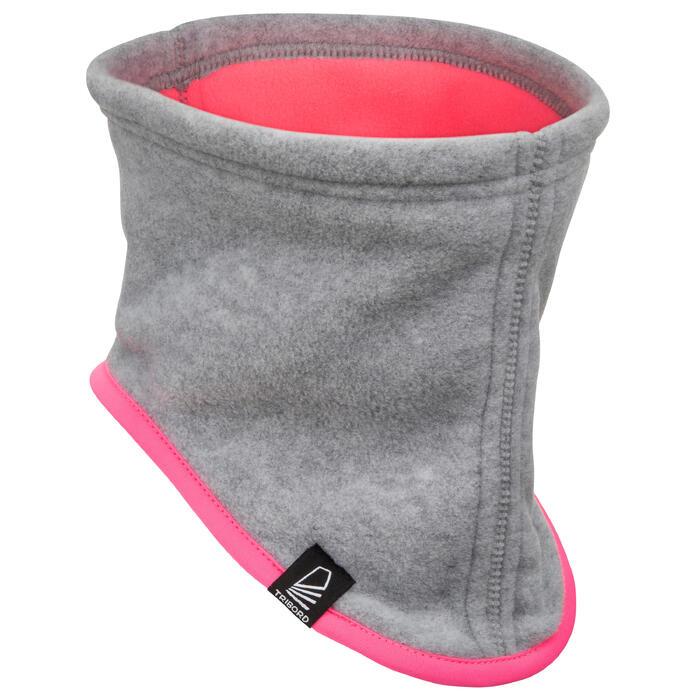 Braga de cuello náutica de fibra polar gris claro / rosa