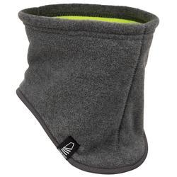 Fleece nekwarmer voor zeilen donkergrijs / geel