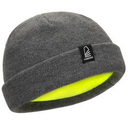 Gorro náutico de fibra polar gris oscuro / amarillo