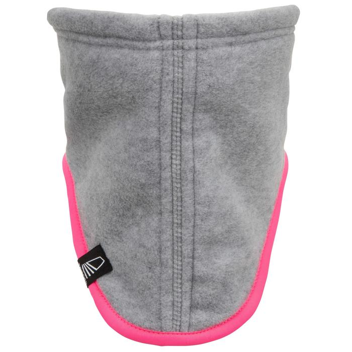 Fleece nekwarmer voor zeilen lichtgrijs / roze