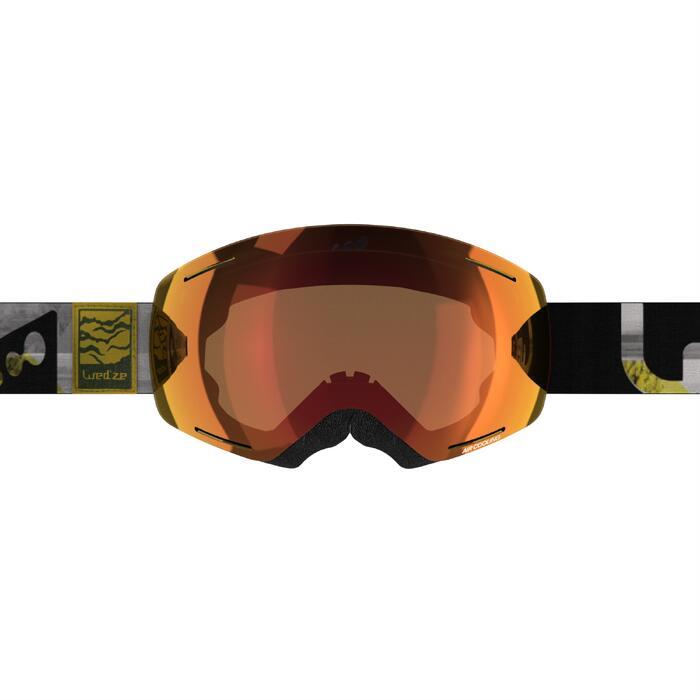 MASQUE DE SKI ET DE SNOWBOARD ADULTE ET JUNIOR G 520 BEAU TEMPS JAUNE