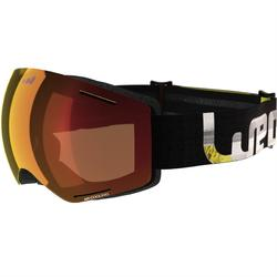 KID'S AND ADULT'S SKIING AND SNOWBOARDING GOGGLES G 520 GOOD WEATHER - YELLOW