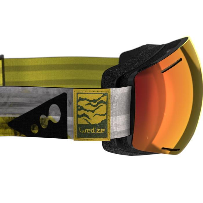 Ski- en snowboardbril volwassenen en kinderen G 520 mooi weer geel