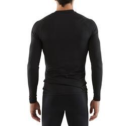 Sous-maillot respirant manches longues adulte 100 noir