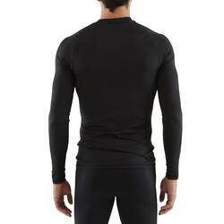 Ondershirt voor voetbal volwassenen Keepdry 100 zwart