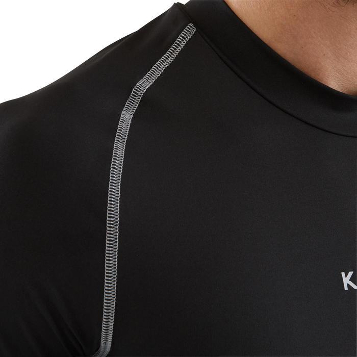 50d4fdfeff2c9 Camiseta térmica de fútbol manga larga adulto Keepdry 100 negro ...