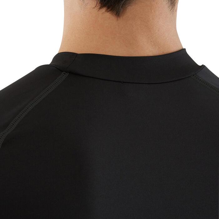 Camiseta térmica de fútbol manga larga adulto Keepdry 100 negro