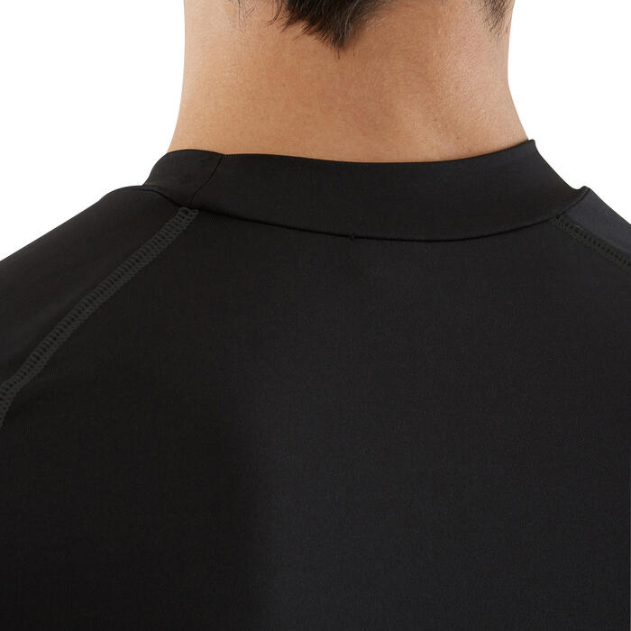 Funktionsshirt langarm 100 atmungsaktiv Erwachsene schwarz