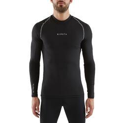 Thermoshirt Keepdry 100 lange mouwen zwart unisex