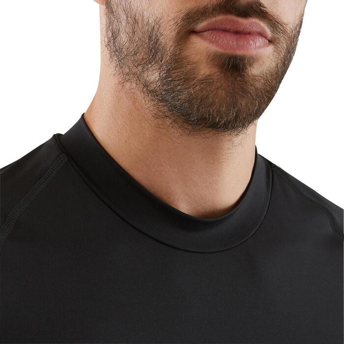 Ondershirt voor voetbal lange mouwen volwassenen Keepdry 100 zwart