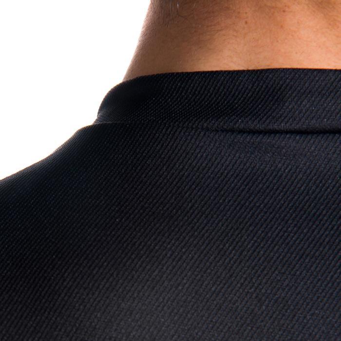 Rugbyshirt voor volwassenen R100 zwart