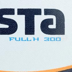 Balón rugby R300 talla 3 blanco naranja