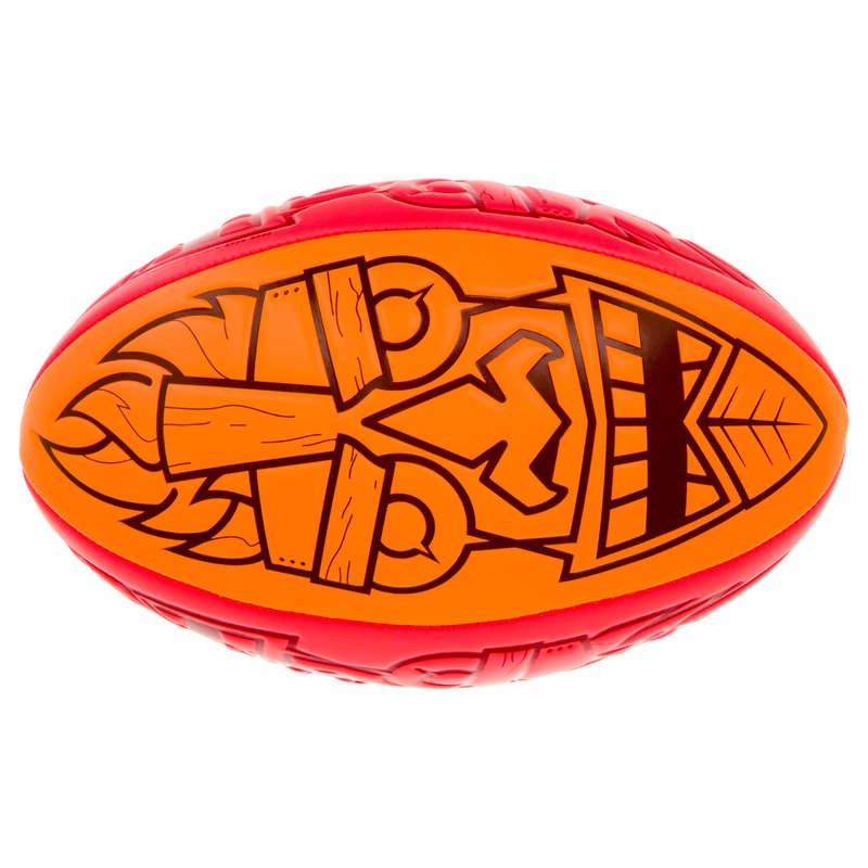 MÍČE, DOPLŇKY K MÍČŮM NA RAGBY Ragby - MÍČ BEACH R100 TIKI VEL. 4 OFFLOAD - Ragbyové míče a doplňky