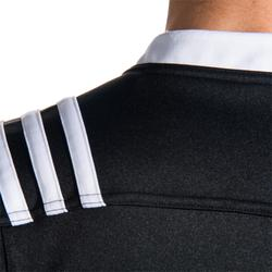 Rugbyshirt voor volwassenen Adidas 3S zwart wit