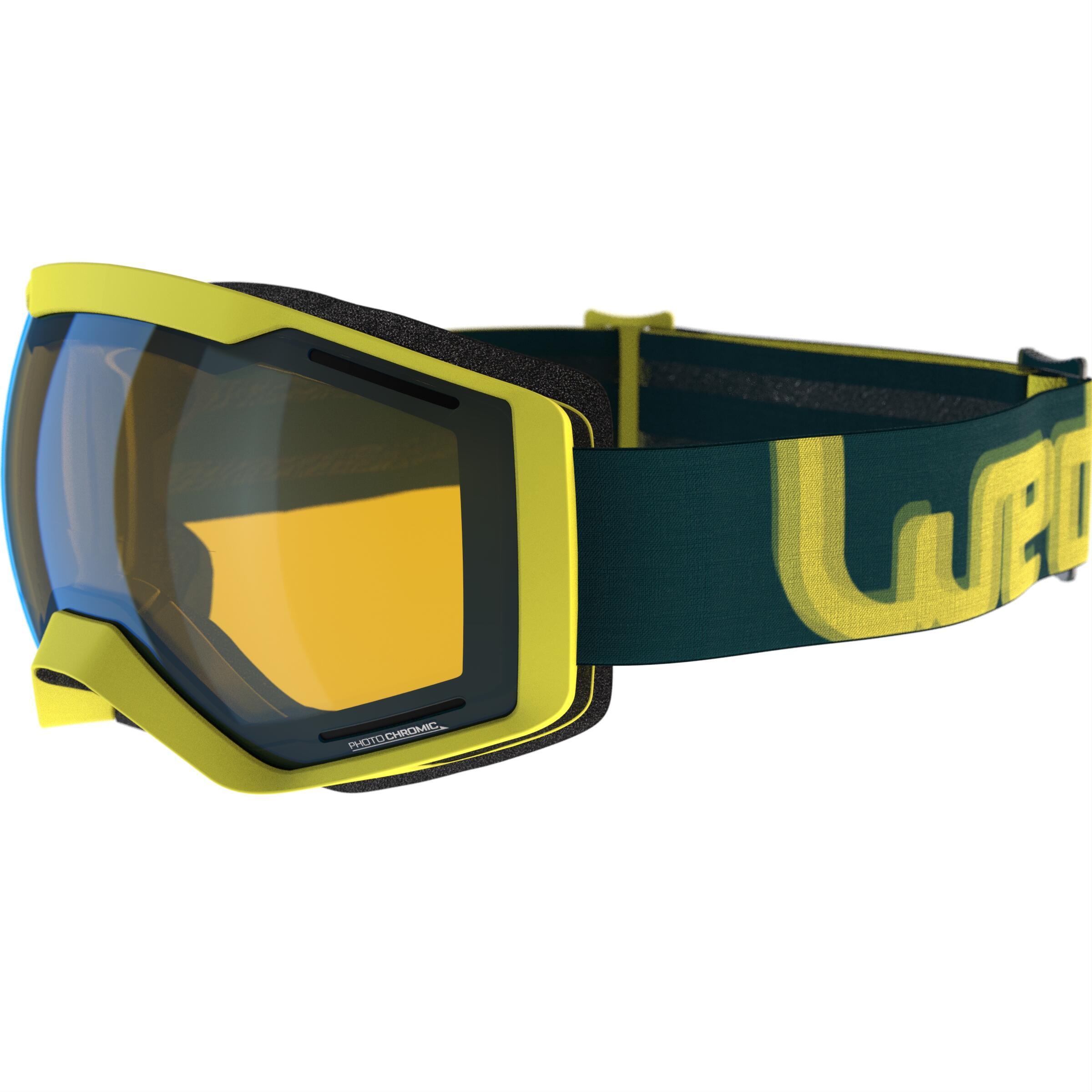 Wed'ze Ski-snowboardbril Bones 700 fotochroom geel alle weer 18 thumbnail