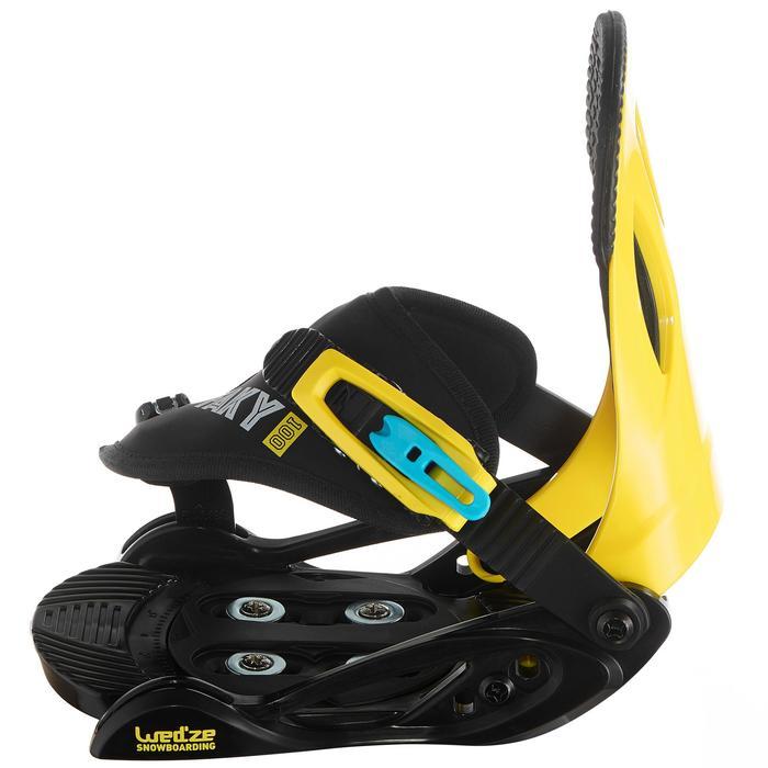 Snowboardbindung Faky 100 Kinder schwarz/gelb/blau