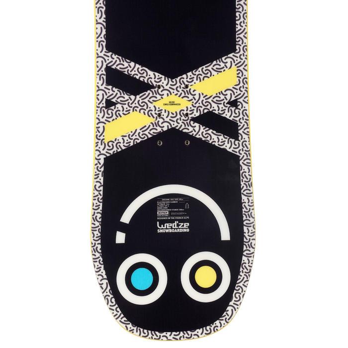 Snowboard all mountain freestyle junior, Endzone 105 cm, jaune, noir, bleu