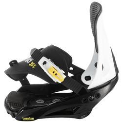 Fijaciones de snowboard, júnior, Faky 300 negro, blanco y amarillo