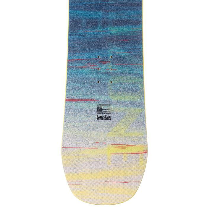 Snowboard all mountain freestyle, junior, End Zone 135 cm  jaune, noir, bleu - 1202998