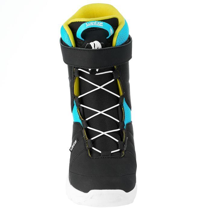 Botas de snowboard, niños, Indy 300, Fast Lock 2Z negro, azul y amarillo