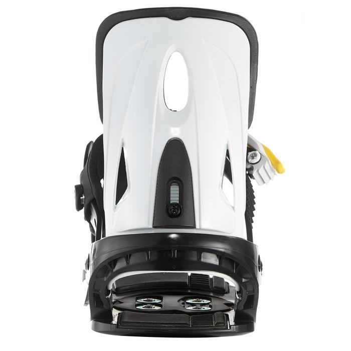 Fixations de snowboard, junior, Faky 300  noires, blanches et jaunes - 1203014