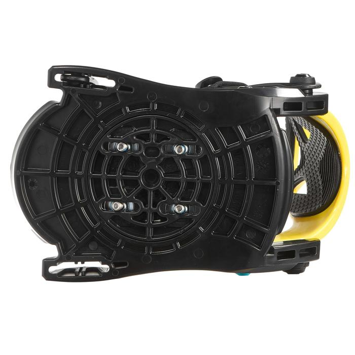 Junior Snowboard Bindings, Faky 100 - Black, Yellow and Blue
