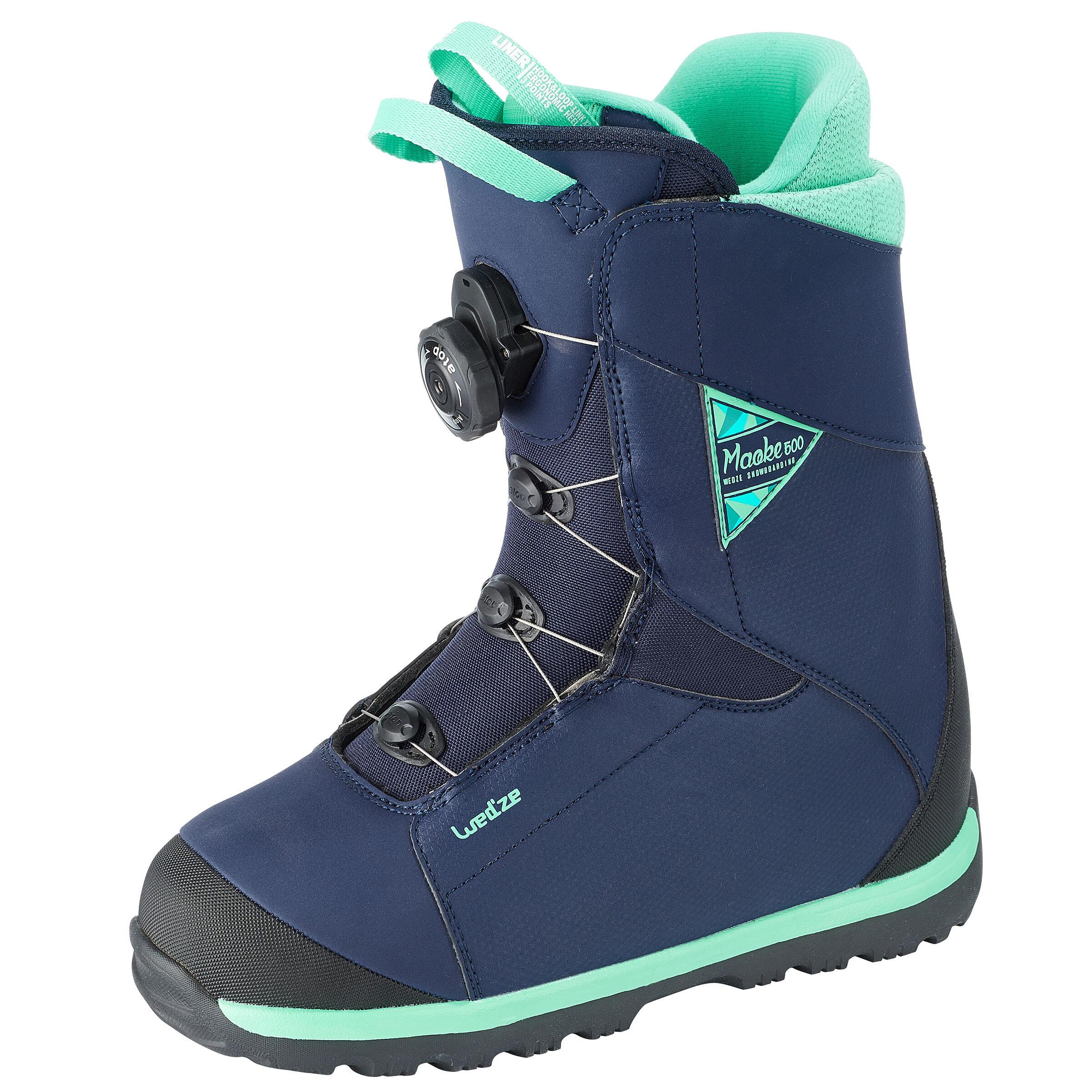 Wed'ze All mountain snowboardboots voor dames Maoke 500 - Cable Lock