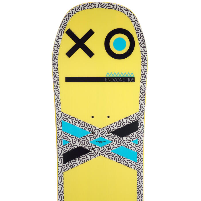 Snowboard all mountain freestyle, junior, End Zone 105 cm, jaune, noir, bleu - 1203023