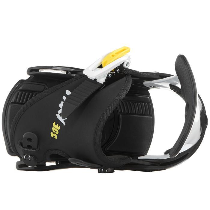 Fixations de snowboard, junior, Faky 300  noires, blanches et jaunes - 1203026