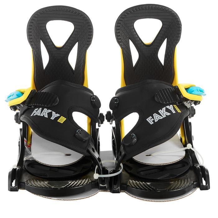 Fixações de Snowboard Faky 100 Criança Preto, Amarelo e Azul