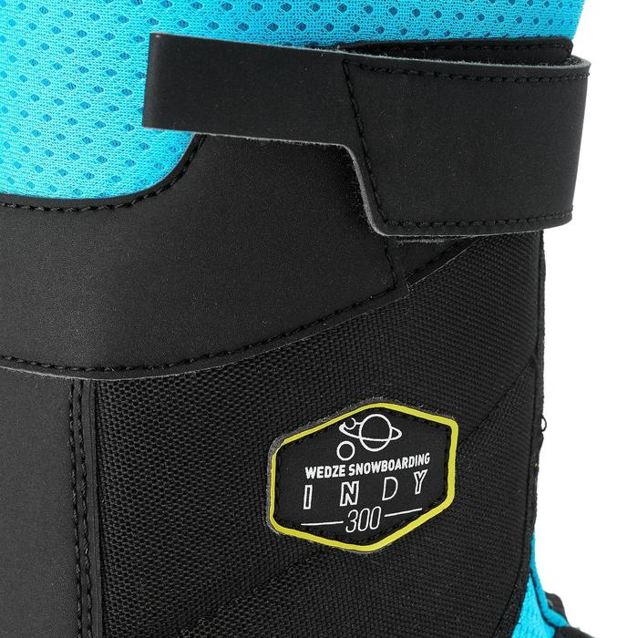 Child's all mountain/ freestyle snowboarding shoes Indy 300 - Black Blue