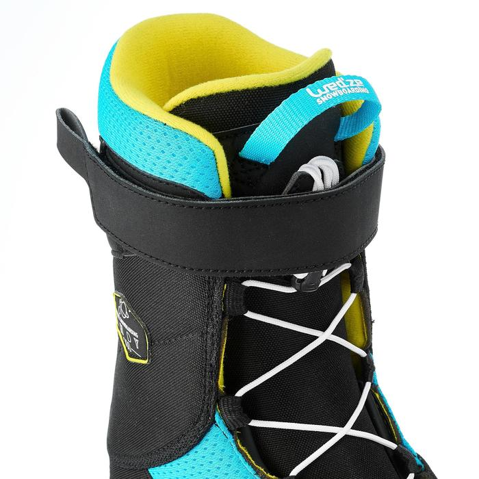 Chaussures de snowboard enfant all mountain/freestyle Indy 300 noires bleues
