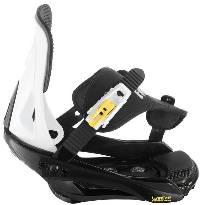 Fixations de snowboard, junior, Faky 300  noires, blanches et jaunes - 1203051