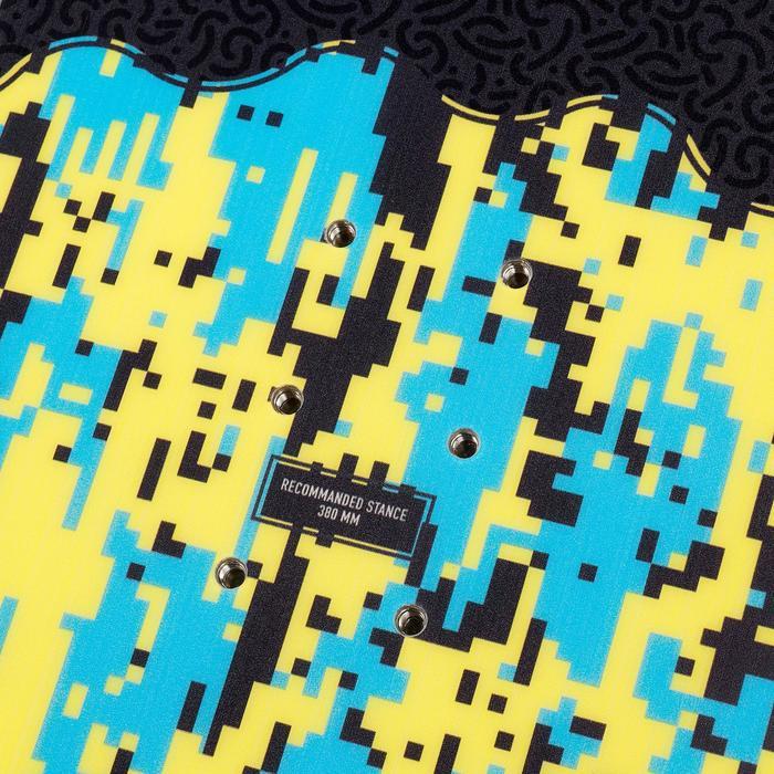 All-mountain freestyle snowboard Endzone voor kinderen 120 cm geel zwart blauw