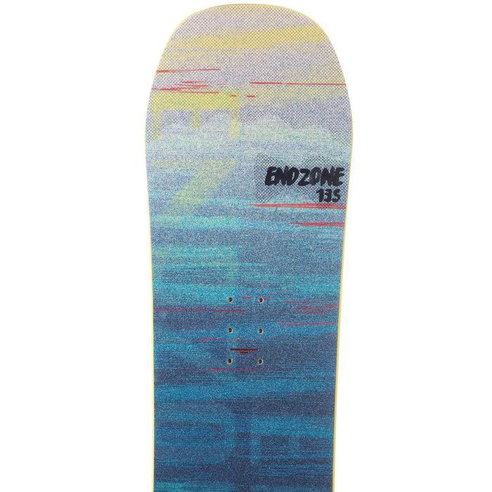 All-mountain freestyle snowboard Endzone voor kinderen 135 cm geel zwart blauw